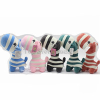 zebras plüsch großhandel-Kawaii Zebra Kuscheltiere Spielzeug Zebra Plüsch Puppe 5 Farben 28 CM Puppe Spielzeug Beste Geschenke Für Mädchen Whoselase DHL
