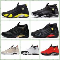 ingrosso aria retro 14-Nike Air jordan 14 Retro AJ AJ14 Cheap Women 14s scarpe outdoor Jumpman 14 Nero Rosso Oro Giallo Rosa Bianco Ragazzi Ragazze Youth Kids aj1s4 scarpe da ginnastica stivali