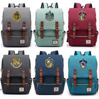 sırt çantası okulu erkekleri toptan satış-Vip Bağlantı Sihirli Hogwarts Ravenclaw Slytherin Gryffindor Erkek Kız Öğrenci Okul çantası Gençler Okul, Kadın Erkek Sırt Çantası