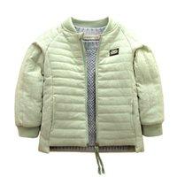 chaqueta con cremallera para niñas al por mayor-parkas capa clásica de la chaqueta de los niños postal para muchachos niño niñas de invierno ropa de abrigo gruesa ropa de abrigo