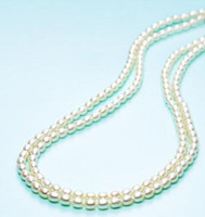 Wholesale south sea pearl pendant white resale online - 2 rows of mm South Sea Baroque white pearl necklace quot quot
