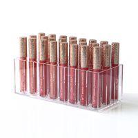 Wholesale lipstick stand holder resale online - Brand Acrylic Lip Gloss Holder Slots Lipstick Box Display Stand Sundry Storage Box Cosmetic Makeup Organizer Holder