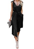 Wholesale plus size rompers for sale - Group buy Bow Sleeveless V Neck Loose Womens Jumpsuits Irregular Length Sexy Women Rompers Summer Capris Plus Size Clothing