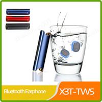 klassisches bluetooth großhandel-Classic X3T TWS Bluetooth 4.2 5.0 Headset Stereo Musik Kopfhörer eingebautes Mikrofon Kleiner kabelloser Ohrhörer mit 850mAh Akku aufladen