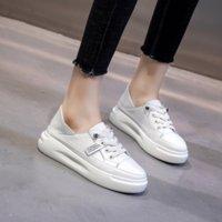 zapatos especiales aumentan la altura al por mayor-Mujeres 4.5cm aumento de la altura de la plataforma zapatos de cuero genuino del cowskin damas de viaje ocasional femenina de la venta caliente al aire libre de pie calzado blanco
