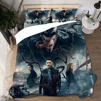 Wholesale boys twin size bedding sets for sale - Group buy Bed Linen Cotton Twin Size Venom Hippie Bedding Set High Luxury Boy Home Textile Single Duvets and Linen Set Coarse Calico Cover
