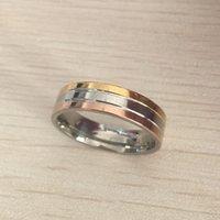 marke zubehör china großhandel-Titan Stahl Hochzeit Marke Designer Liebhaber Ring für Frauen Männer Verlobungsringe Männer Schmuck Geschenke Mode-Accessoires