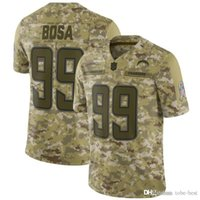 b5ddc13a9 Los Angeles  99 Joey Bosa Jerseys Chargers 2018 Salute to Service USA Flag  Impact Lights out Black Color Rush Drift Camo Olive Limited