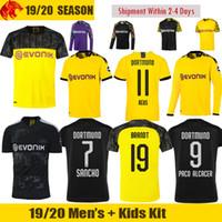 siyah sarı formalar toptan satış-19 20 Home yellow away black third Soccer Jersey 2019 2020 Jersey football shirt
