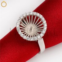 Wholesale diy sterling silver ring mounts for sale - Group buy Zircon Jewellery Findings Ring Settings Base Sterling Silver Big Pearl Mounting for Wedding Gift DIY