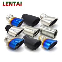 Wholesale universal car mufflers for sale - Group buy LENTAI Auto Chrome Stainless Steel Car Exhaust Muffler Tip pipe For Lada Styling for Universal car accessories