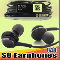 Wholesale samsung galaxy s6 edge plus earphones online – 848D S8 Earbuds Headphones Headset Earphone Microphone for Samsung Galaxy S8 Plus S7 S6 Edge Note free DHL