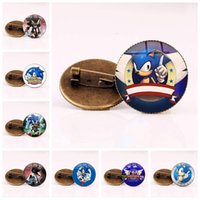 Wholesale bronze toys for sale - Group buy New Sonic The Hedgehog Bronze Vintage Brooch Silver Brooch Jewelry Children s gift toy DHL