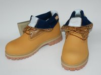 Wholesale boots online sale for sale - Group buy Discount mens Timber Roll Top with yellow Boot Mountaineering shoes fashional hiking boots for mens online sale