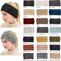 senhoras inverno acessórios venda por atacado-INS Lady inverno 21 Cores Estilos headbands coloridos Acessórios para o cabelo moda adorável hairband de malha macio navio livre