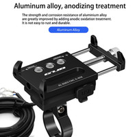 Wholesale phone holder usb charging online – Newly Charging Function Phone Holder GUB G E High quality Durable USB Charging Motorcycle Aluminum Alloy Mobile Phone Holders