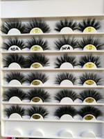 mão, feito, vison, falso, cílios venda por atacado-25mm longo 3D vison cabelo cílios postiços para fazer cílios alongamento versão com a mão frete grátis