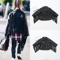 jaquetas de couro para crianças venda por atacado-New Outono casacos de inverno para meninas PU Leather Jacket Tassel Bebés Meninas jaquetas e casacos crianças Casaco de couro Casacos Crianças