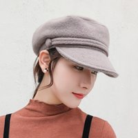 2a895009 Seioum Women Newsboy Cap Autumn Winter Black purple Felt Hats For Women  Vintage Thick Octagonal Cap Female Casual Boina 100%wool