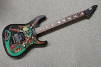 Wholesale new arrival electric guitar black for sale - Group buy Custom Made George Lynch Signature Skulls Snakes Electric Guitar Floyds Rose Tremolo Bridge Locking Nut Black Hardware New Arrival