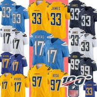 Wholesale football jerseys 99 for sale - Group buy New Los Angeles Chargers Jersey Derwin James Philip Rivers Jersey Joey Bosa Melvin Gordon Football Jerseys