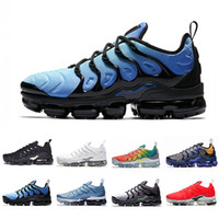 verano zapatos deportivos hombres al por mayor-Vapormax plus tn vapor max Moda de verano nuevas zapatillas de running Work Blue para hombre mujer Zapatillas de deporte Pure Platinum Bright Crimson Hyper Rainbow tallas 36-45