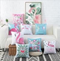 Wholesale pillowcase children bedding resale online - Flamingo pillow case cover sequins Sofa Cover Pillow Cushion Case Cover Home Decor Pillowcase cm KKA6497