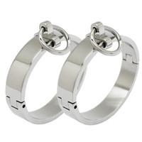стальная запястье оптовых-Запираемый браслет для запястья и лодыжки из полированной нержавеющей стали со съемным уплотнительным кольцом