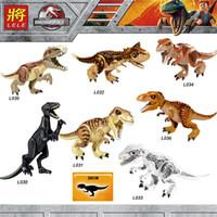 rex spielzeug großhandel-Jurassic World 2 Bausteine Legoings Dinosaurier Figuren Ziegelsteine Tyrannosaurus Rex Indominus Rex I-Rex Montieren Kinderspielzeug