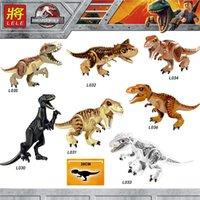 Wholesale blocks bricks toy resale online - Jurassic World Building Blocks ings Dinosaurs Figures Bricks Tyrannosaurus Rex Indominus Rex I Rex Assemble Kids Toys