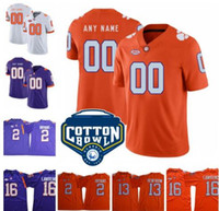 ingrosso tazze da tè-Personalizzato Clemson Tigers College Tee Higgins Christian Wilkins Tanner Muse Dexter Lawrence T.J. Jersey Chase Ross Choice 2019 Cotton Bowl