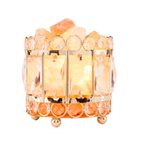 Wholesale bucket lamps for sale - Group buy Himalayan Natural Crystal Salt Natural Himalayan Crystal Salt Lamp with Metal Base Dimmable Controller Dimmer Switch UL Listed Cord Bucket