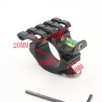 adaptador de alcance picatinny venda por atacado-Âmbito Espiral Nível Anel de Bolha de 30mm de Diâmetro com 20mm de Montagem Picatinny Adaptador de Trilho