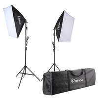 Wholesale studio equipment resale online - Photography Set Photography Continuous Soft Lighting Box Stand Photo Equipment Studio Light Kit Folding Reflector Set Hot Item