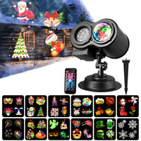 Wholesale water wave lamp resale online - LED Projector Lamp Double Barrel Water Wave Projector Light patterns for Christmas Halloween Party with Remote Control