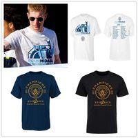 fußball-premier league groihandel-Fußball T-shirts Manchester Fußball 2019 fa Premier fa Cup Community Shield League Cup 4 Gewinner Kurzarm T-Shirts Shirts White Print Logos