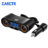 Wholesale usb dual monitor for sale - Group buy New Car Charger Dual USB Car Splitter Cigarette Lighter Camera Monitor Adapter Cup Holder Charger Vehicle Power Splitter