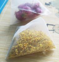 Nylon Tea Filter Bag Transparent Bags Empty Pyramid Tea Bag Heat Sealed 1000pcs lot