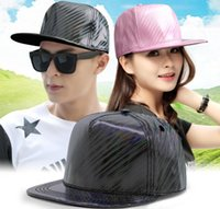 ingrosso cappelli rosa neri snapbacks-Moda Hip Hop Hats Berretti da baseball regolabile Snapbacks Berretto da baseball Uomo Donna DJ Street Dance Hiphop Caps PU Leather Black Pink Blue Hat