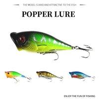 harte köder für bassfischerei groihandel-HENGJIA Popper Top Wasser Minnow Angelköder Künstliche Harte Köder Bass Wobbler Angelgerät 6,5 cm 10g