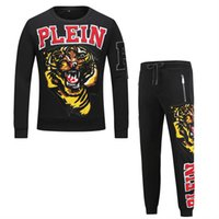 Wholesale pp suits for sale - Group buy Autumn Tracksuits PP Men s Fashion Tiger Head Sportswear Men Clothes Male Long Sleeve Pullover Sweatshirts Pants Male Suit Sets