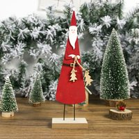 Wholesale kids crafts home for sale - Group buy Christmas Wooden Party Decorations Kids Gifts Snowman Craft Dispaly Printed Santa Claus Ornament Table Top Home D