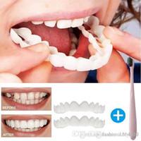 cosméticos falsificados venda por atacado-Perfeito Sorriso Conforto Fit Flex Dentes Fits Mais Confortável Falso Dentes Superior Cosmético Fake Dente