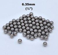 pulverizadores usados al por mayor-1/4 '' (6.35mm) 304 Bolas de acero inoxidable G100 Para rodamientos, bombas, válvulas, pulverizadores, usados en industria alimentaria, aeroespacial y militar