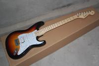 Wholesale electric guitar sunburst for sale - Group buy new Standard HSS Electric Guitar Brown Sunburst w TKL guitar