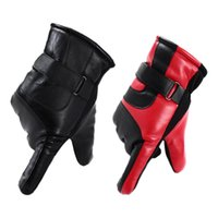 Wholesale waterproof gloves for motorcycle for sale - Group buy Winter Motorcycle Riding Gloves Full Finger Gloves Leather Touchscreen Closure Warm For Outdoor Cycling And Riding