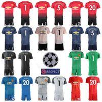 1ed027503 Goalkeeper Man United 2018 2019 Soccer 1 David De Gea Jersey Set 22 Sergio  Romero 13 GRANT Football Shirt Kits Uniform