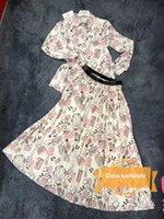 robe à imprimé sac achat en gros de-Womens robe designer ensembles de jupe pour les femmes sac personnalisé impression chemise nouvelle mode sauvage jupe T-shirt