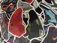 pegatinas de baloncesto al por mayor-Retro creativo JDM AJ zapatillas de baloncesto zapatos Graffiti pegatinas para el ordenador portátil monopatín equipaje DIY calcomanía pegatinas a prueba de agua