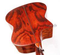 Wholesale guitar acoustics solid online - hand painting vintange color solid wood acoustic electric guitar